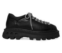 Low Tracker Stiefel aus Leder mit Shell-besatz