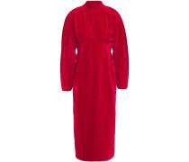 Open-back Cotton-velvet Midi Dress