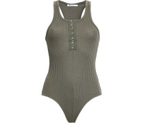Ribbed Cotton And Modal-blend Bodysuit