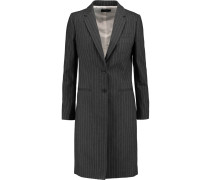 Striped Cotton-twill Coat Dunkelgrau