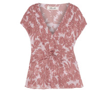 Millie Printed Metallic Fil Coupé Silk-blend Georgette Top