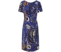 Bedrucktes Kleid aus Crêpe