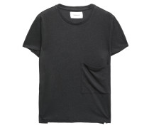 The Drop Pocket Linen And Cotton-blend Jersey T-shirt