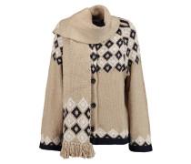 Intarsia-knit Cardigan Sand