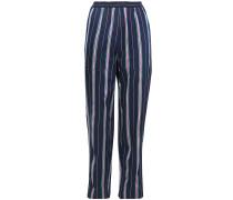 Striped Satin-jacquard Tapered Pants