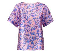 Printed Silk-satin Top Flieder