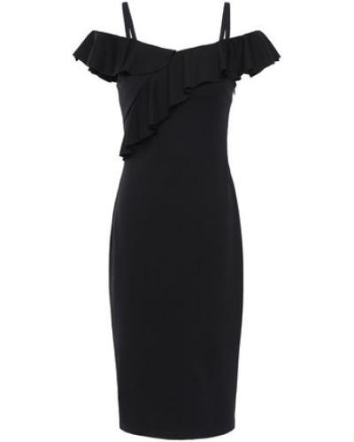 Cold-shoulder Ponte Dress Black