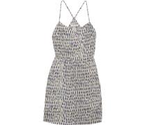 Sunlight Printed Silk Mini Dress Grau