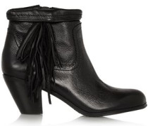 Louie fringed leather ankle boots