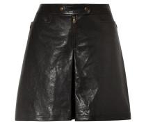 Leather Shorts Schwarz