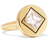 Truitt Gold-tone Crystal Ring