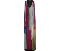 Fringed knitted gown