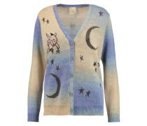 Kewpie Metallic Intarsia-knit Cardigan Blau