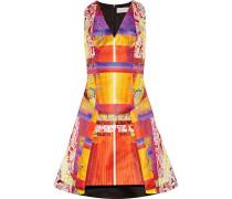 Angle Printed Satin Dress Mehrfarbig