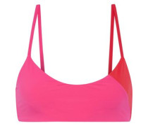 Savannah Sunset color-block bikini top