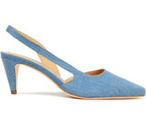 Lauren Denim Slingback Pumps