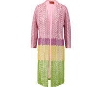 Metallic Crochet-knit Cotton-blend Coat Mehrfarbig