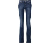 Roxanne Mid-rise Slim-leg Jeans Dunkler Denim