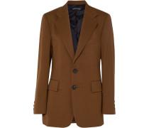 Oversized-blazer aus Twill
