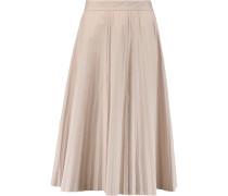 Pleated Cotton-poplin Midi Skirt Pastellrosa