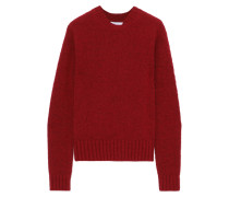 Brushed Mélange Knitted Sweater
