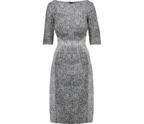 Cotton-blend Jacquard Dress Navy