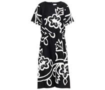 Kleid aus Twill aus Einer Baumwollmischung mit Floralem Print