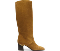 Suede Knee Boots Camel