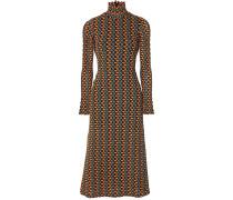 Opis Cutout Crochet-knit Midi Dress
