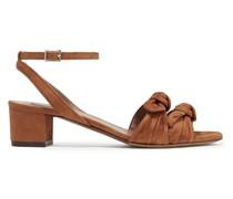 Eloy Sandalen aus Veloursleder mit Schleife