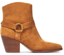 Woman Suede Ankle Boots Light Brown