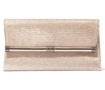 440 Envelope Glittered Leather Clutch Gold