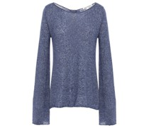 Knotted Mélange Cashmere And Silk-blend Sweater