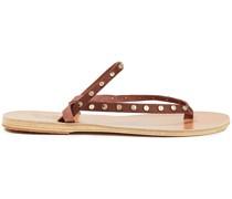 Mirsini Sandalen aus Leder mit Nieten