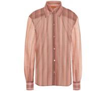 Gestreiftes Hemd aus Metallic-strick
