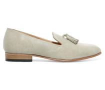 Gaston Patent-leather Loafers Hellgrau
