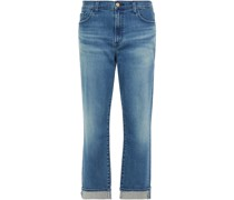 Tate Cropped Boyfriend Jeans