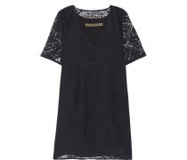 Burnout Voile Mini Dress Schwarz