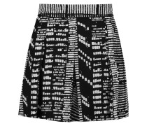 Printed Crepe Shorts Schwarz