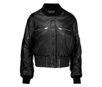 Colombe Teddy leather bomber jacket
