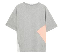 Color-block Cotton-jersey And Woven T-shirt