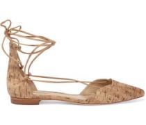 Neida cork point-toe flats