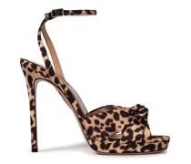 Chance 115 Leopard-print Satin-twill Platform Sandals