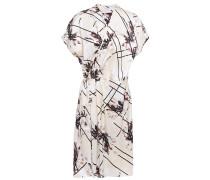 Pleated Printed Silk-charmeuse Wrap Dress