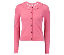 Cutout Stretch-knit Cardigan Pink