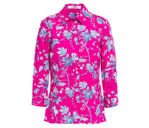 + Rose Cumming Printed Stretch-cotton Poplin Shirt