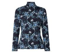 Knight Floral-print Stretch-jersey Turtleneck Top