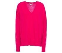 Pointelle-trimmed Cashmere Sweater