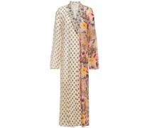 Selene Verzierter Kimono aus Chiffon in Patchwork-optik mit Print