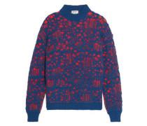 Open-knit wool-blend sweater